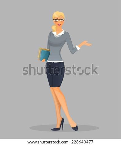 Teacher woman - stock vector