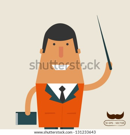 Teachers are teaching the students - stock vector