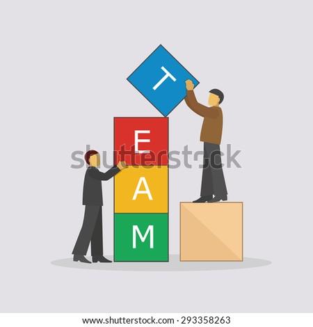 team building activities / teamwork / vector / illustration / business concept / flat design - stock vector