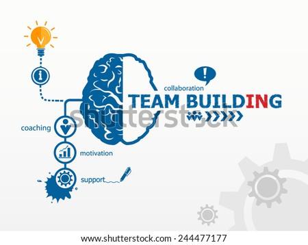 Team Building Graph concept - stock vector