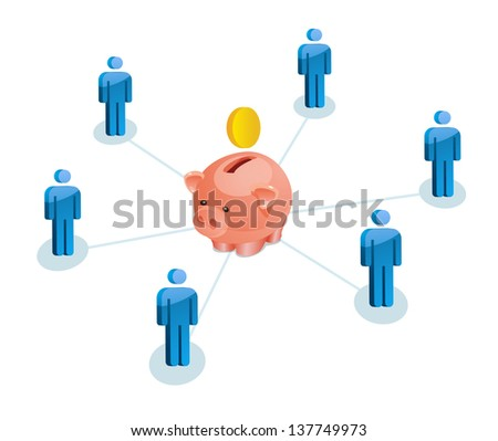Team business concept - stock vector