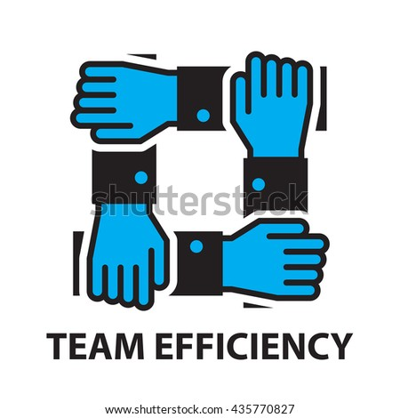 team efficiency for business concept , icon and symbol - stock vector