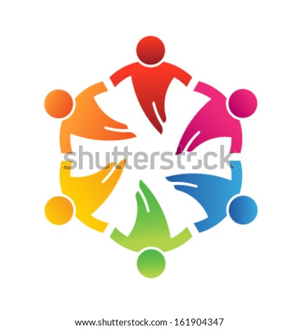 Team Friends 6 Design Icon Vector - stock vector