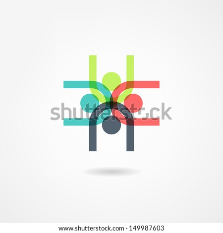 team icon - stock vector