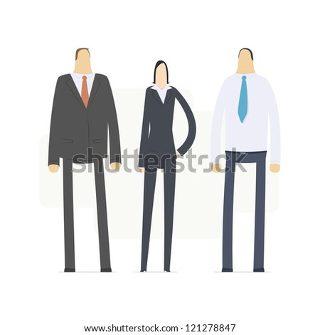 team of young business people - stock vector