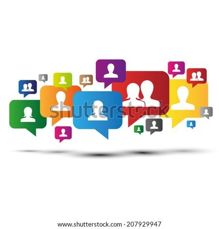 Team,Teamwork,Equip,Peoples,Social,Connection,Bubbles,Job - stock vector