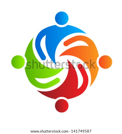Team together 4 design element Vector - stock vector