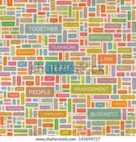 TEAM. Word cloud concept illustration.  - stock vector