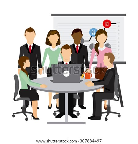 team work design, vector illustration eps10 graphic  - stock vector