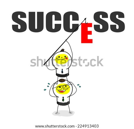 Team work for success - stock vector
