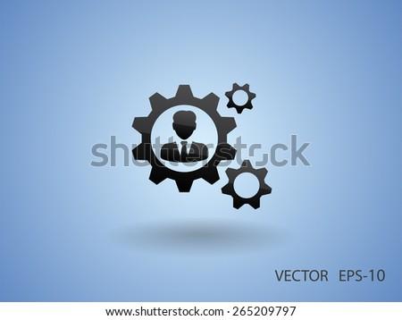 Team work icon - stock vector
