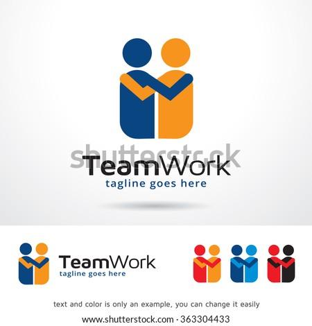 Team Work Logo Template Design Vector - stock vector