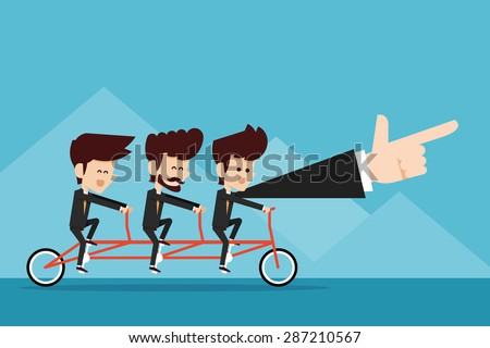 Teamwork. - stock vector