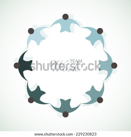 Teamwork abstract colorful company employees art - stock vector
