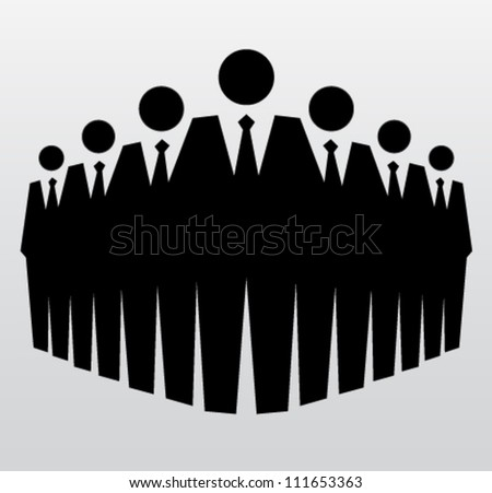 Teamwork and leadership in company. Vector illustration - stock vector