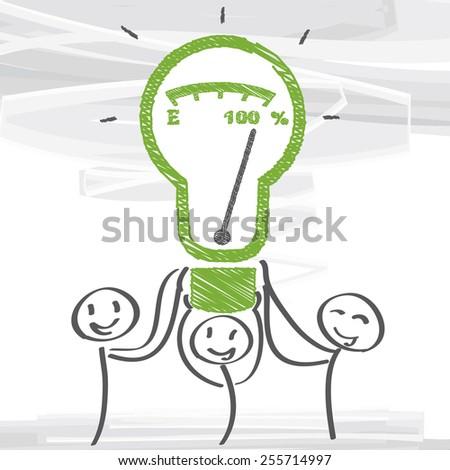 Teamwork and performance vector illustration - stock vector
