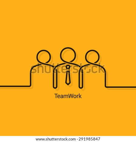 teamwork business concept design background - stock vector