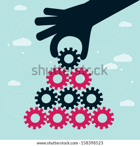 teamwork concept  - stock vector