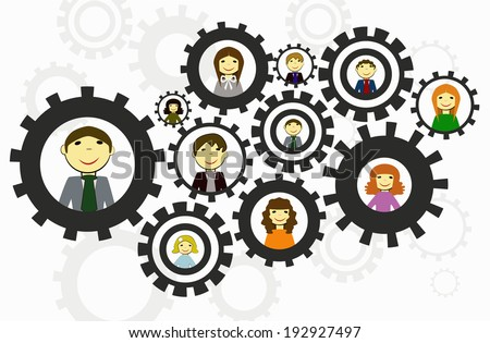 teamwork concept, human resources - stock vector