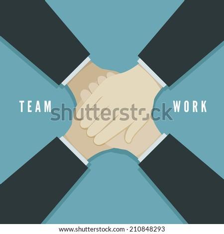 Teamwork concept vector illustration - stock vector