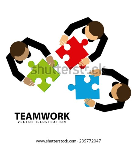 teamwork  design , vector illustration - stock vector