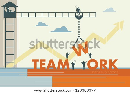 Teamwork. EPS10 vector - stock vector