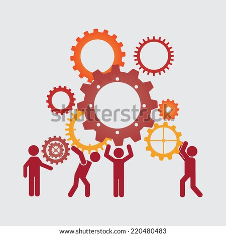 teamwork graphic design , vector illustration - stock vector