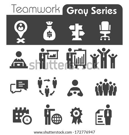 Teamwork Icons - stock vector