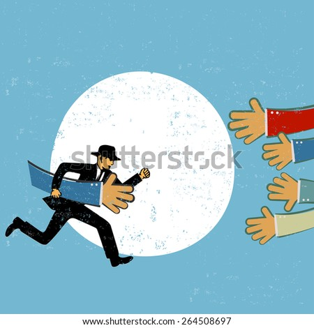 Teamwork in business concept - stock vector