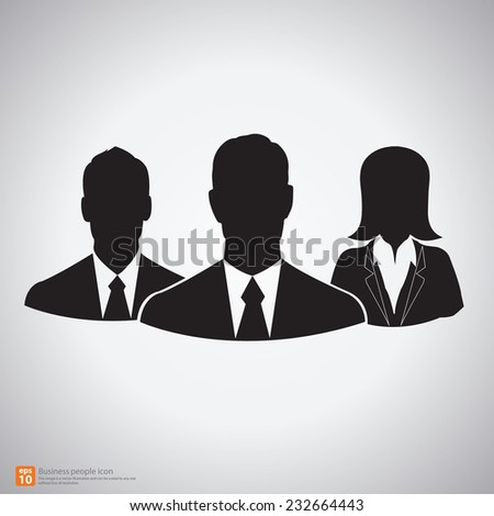 Teamwork of  business people silhouettes vector icon  - stock vector