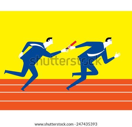 Teamwork of sport - stock vector