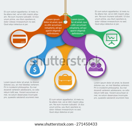 Teamwork social infographic, diagram, presentation. Layout for your options - stock vector