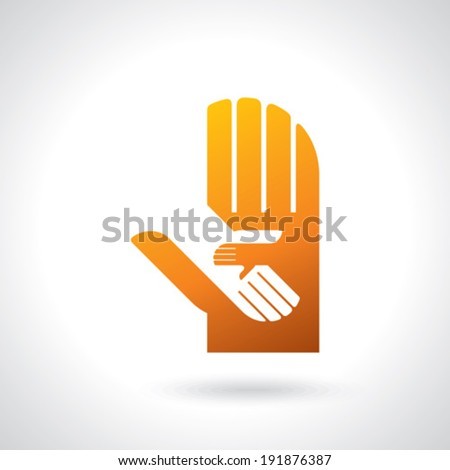 teamwork symbol design - stock vector