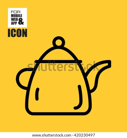 Teapot vector icon - stock vector
