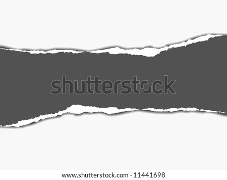 Tear paper - abstract background - stock vector