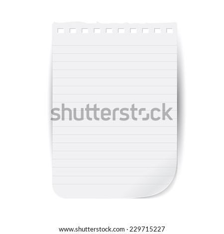tear sheet notepad - stock vector