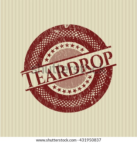 Teardrop with rubber seal texture - stock vector