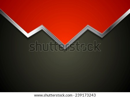 Tech background with concept metal arrow. Vector illustration - stock vector