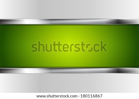 Tech bright background with metallic stripes - stock vector
