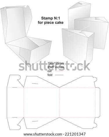 Technical die stamp for Cake with preview models - stock vector