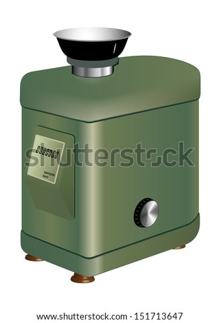 Technical laboratory scales for accurate weighing small quantities substances. Vector - stock vector