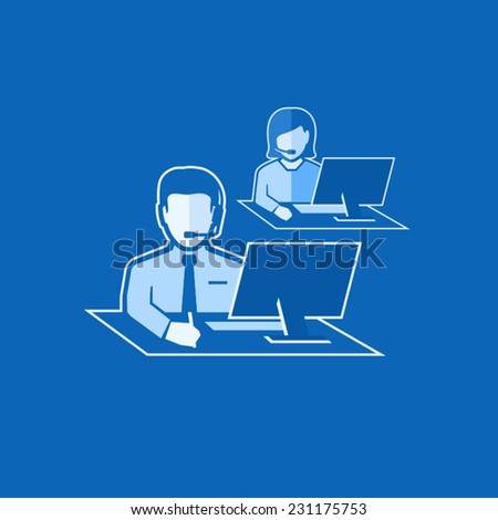 Technical Support  - stock vector