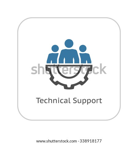 Technical Support Icon. Flat Design. Business Concept. Isolated Illustration. - stock vector