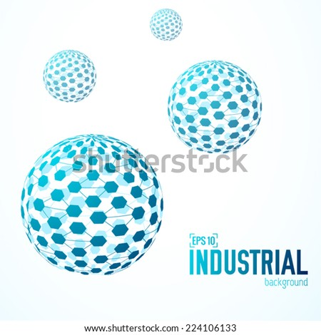 technical virtual technology industrial network sphere background concept. Vector illustration design - stock vector