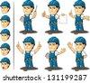 Technician or Repairman Mascot 3 - stock vector