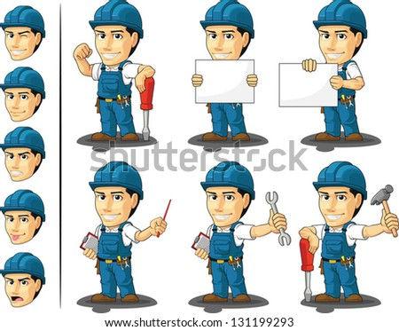 Technician or Repairman Mascot - stock vector