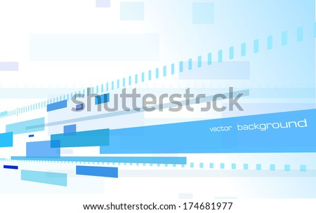 techno abstract geometric perspective background - stock vector