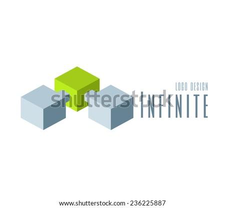 Techno Logo design template. Abstract Infinite shape logo templates. Team Concept - stock vector