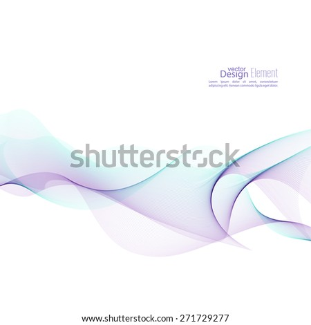 Techno vector abstract background with soft lines.  For cover book, brochure, flyer, poster, magazine, website, app mobile, annual report, cosmetics, perfumes, packaging. violet, cyan - stock vector