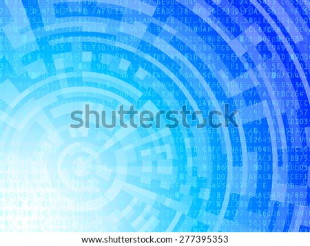 Technological background data numbers and letters on blue and white gradient. Vector Illustration  - stock vector